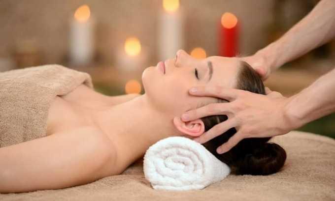 После применения компрессов с лечебным раствором происходит расслабление мышц