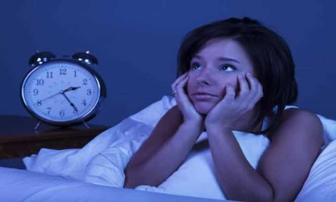 Побочный эффект проявляется в неспокойном прерывистом сне