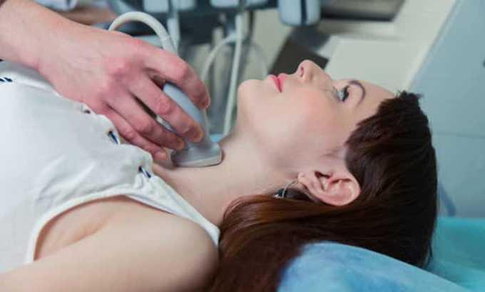 УЗИ щитовидной железы позволяет диагностировать причины тиреотоксикоза