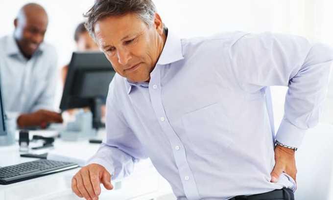 Лекарство Вольтарен рекомендуют при болях в спине, возникших на фоне дегенеративно-воспалительных болезней опорно-двигательного аппарата
