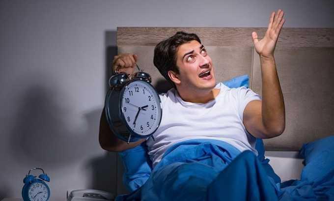 Препарат принимают при проблемах со сном