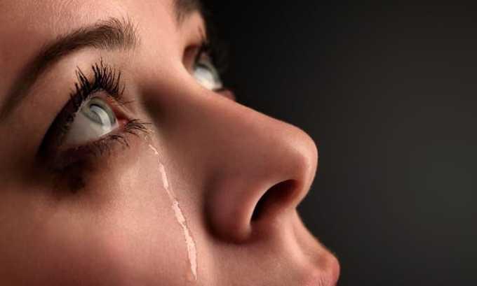 Слезоточивость — побочный эффект после приема Йодомарина
