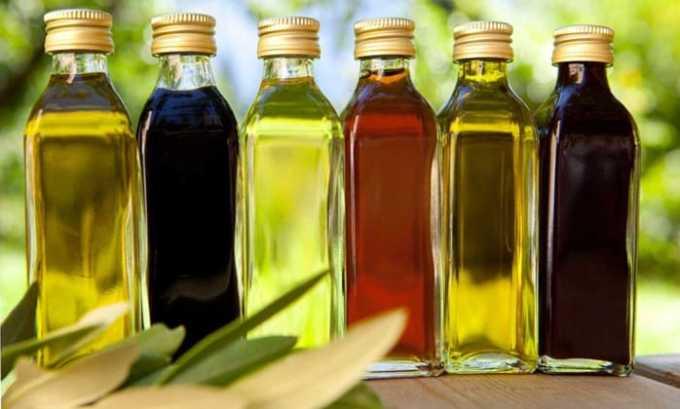 Продукты с высоким содержанием витамина Е: оливковое, подсолнечное масла