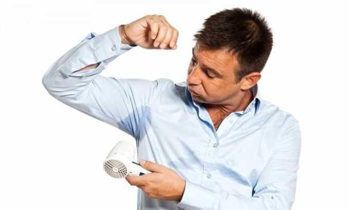 От препарата возможно появление побочного эффекта как увеличение потоотделения
