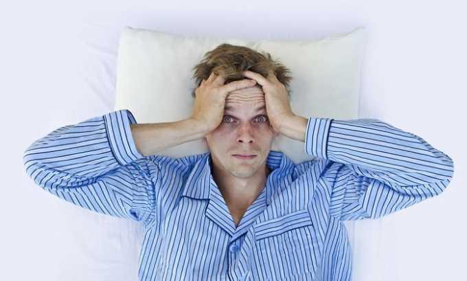 При употреблении данного лекарственного средства может появиться расстройство сна