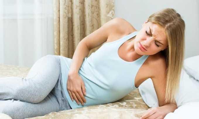 При использовании лекарства возможна боль в животе