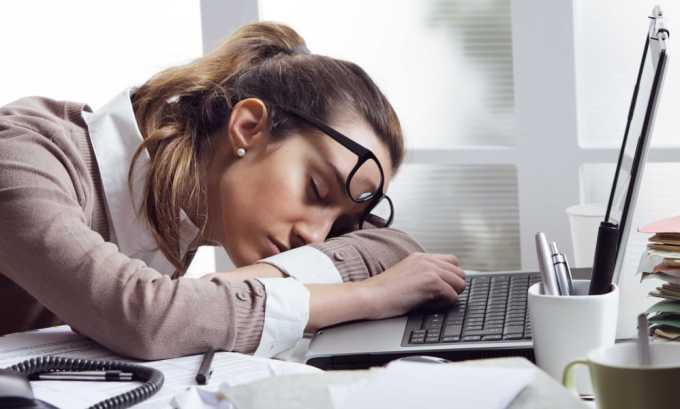 Препарат показан для устранения трудностей во время засыпания и частых пробуждений во время сна, вызванных переутомлением