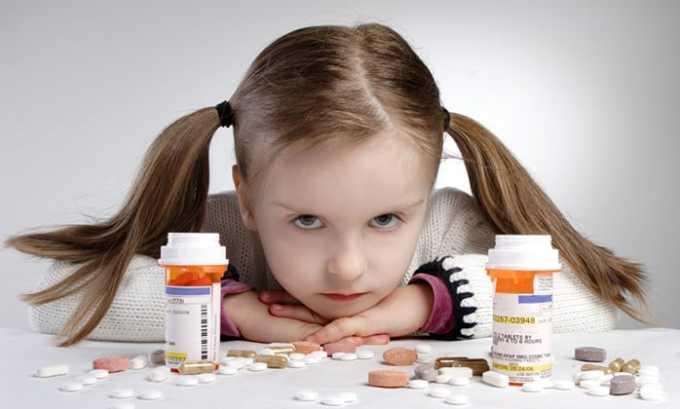 При недостаточном весе ребенка назначают препараты с дозировкой только в 500 мг в 1 таблетке
