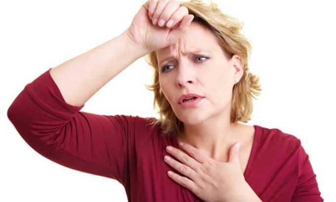 Со стороны дыхательной системы может возникнуть одышка