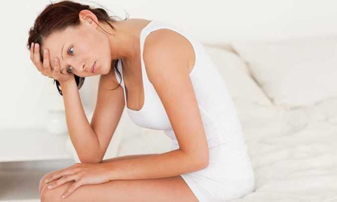 Витаминный раствор рекомендуется при сбоях менструального цикла