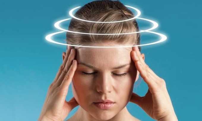 Побочное действие препарата со стороны нервной системы - головокружение и боли в голове