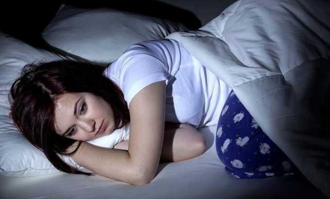 Во время терапии возможно расстройство сна