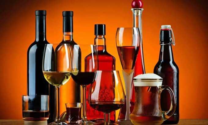 Нежелательно сочетать препарат L-тироксин со спиртными напитками