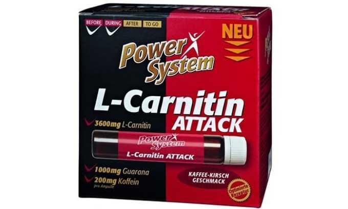 Формат L-CARNITIN ATTACK дополнительно присутствует кофеин и гуаран