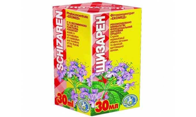 Щизарен - средство назначается при тиреоидитах, зобах, снижении функции железы и профилактики заболеваний органа