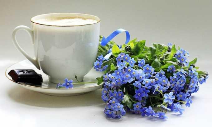 Достаточно эффективно лечение майскими незабудками, из них можно делать полезный чай
