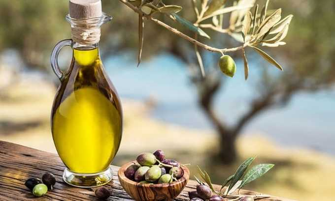 Оливковое масло содержит витами Е