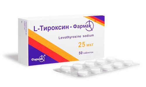 Прием препарата L-тироксин восстанавливает функцию щитовидной железы