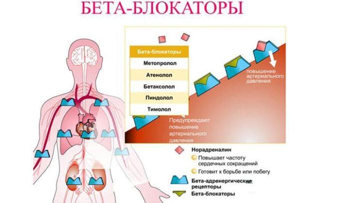 Нужно уменьшить симптомы большой концентрации в кровеносной системе гормонов щитовидной железы. Для этого используются бета-блокаторы. Эти препараты купируют симптомы