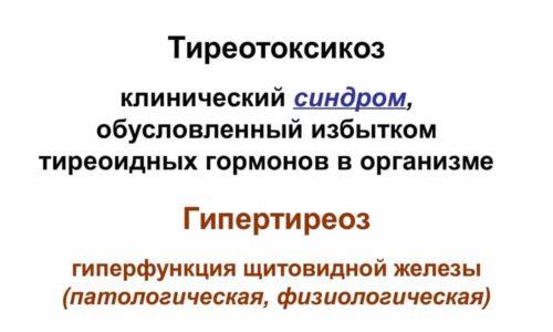 При переизбытке трийодтиронина и тироксина в организме возникает тиреотоксикоз
