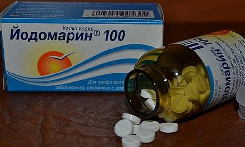 При выявлении недостатка йода применяют лекарства с содержанием йода (Йодомарин, Йодид, Йодбаланс)