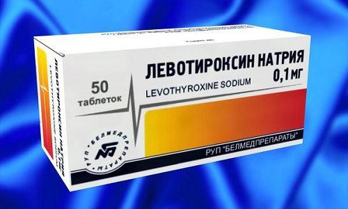 Левотироксин принимают при заместительной терапии щитовидной железы