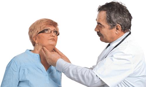 Обследование пациента с признаками диффузных изменений паренхимы щитовидной железы начинается с осмотра и пальпации
