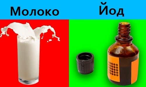 Простым и доступным средством, восполняющим недостаток минерала, является смесь молока и йода