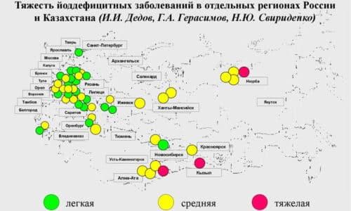 Йододифицит часто испытывают жители регионов, почва и вода которых бедны этим микроэлементом