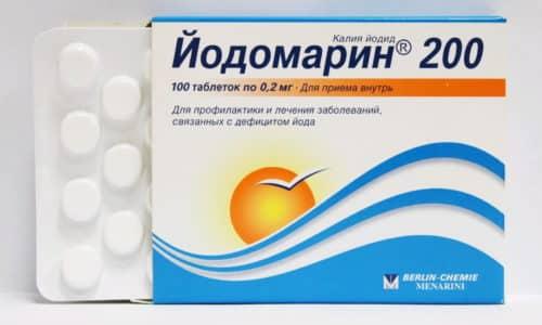 При медикаментозном лечении йододифицита одновременно с йодсодержащими препаратами назначаются лекарства для устранения симптомов, вызванных недостатком йода