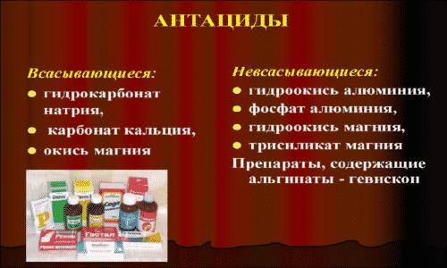 Преднизолон не рекомендуется сочетать с антацидными препаратами