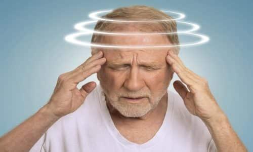 При передозировке Диклофенаком наблюдается головокружение