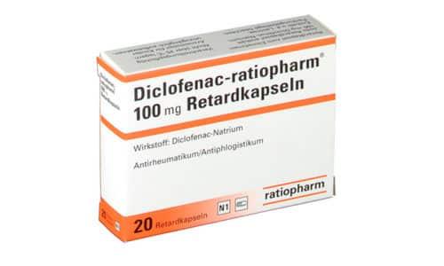 Диклофенак-Ратиофарм Ретард в форме капсул выпускается в Германии