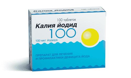 Йодид калия - оказывает влияние на выработку гормонов ЩЖ