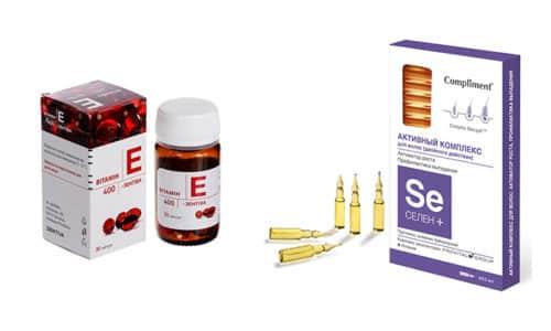 Витамин Е и селен - это вещества, имеющие антиоксидантную активность