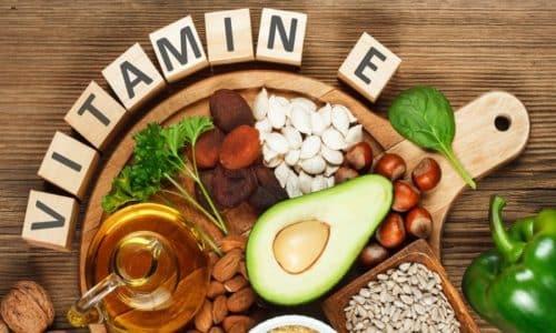 Витамин Е является антиоксидантом, защищает клетки и стенки сосудов от свободнорадикального окисления