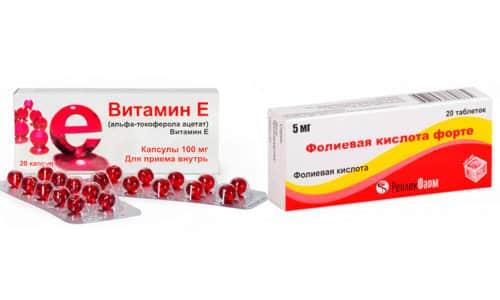 Фолиевая кислота и витамин Е - питательные элементы и препараты, применяемые для улучшения деятельности репродуктивной системы женщины и ускорения зачатия