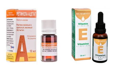 Масляные растворы витаминов А и Е используются для лечения и профилактики многих заболеваний
