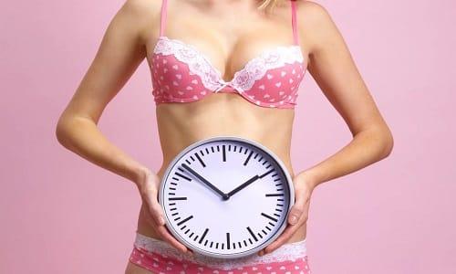 При различных нарушениях менструального цикла следует принимать по 300-400 мг добавки, начиная с середины цикла