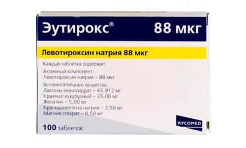 Эутирокс 88 предназначен для нормализации функции щитовидной железы пациента