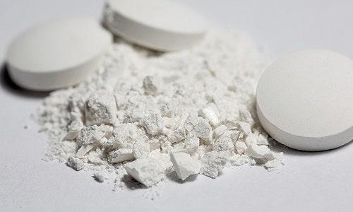 Каждая таблетка содержит калия йодид в количестве от 100 до 200 мкг