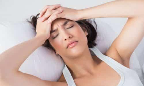 При несоблюдении рекомендаций врача возможно появление побочных реакций в виде головной боли