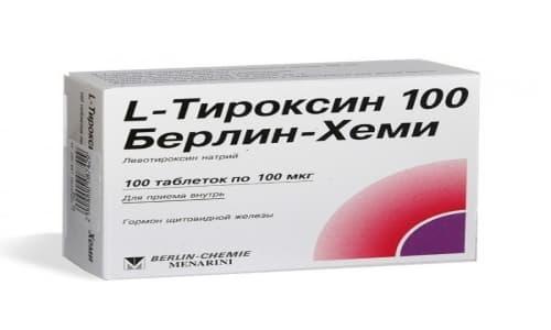 Синтетический l тироксин 100 - гормональное средство, содержащее йод