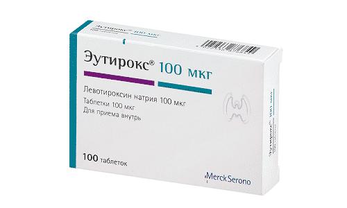 Эутирокс 100 содержит аналог гормона щитовидной железы, характеризующийся синтетическим характером
