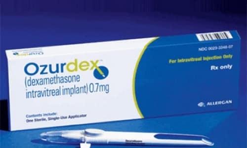 Озурдекс - это имплант глюкокортикостероидного вещества, который необходимо вводить интравитреально