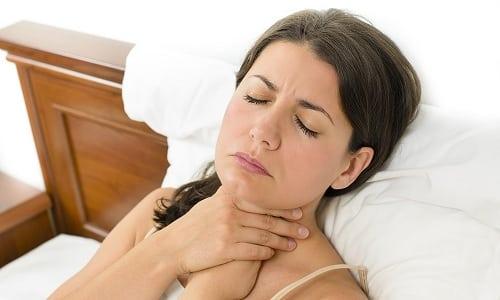 Лекарство может вызвать спазм гортани